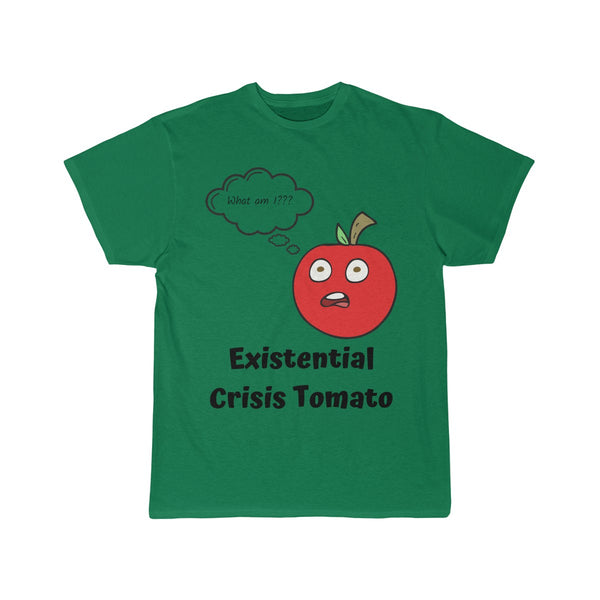 Men's Short Sleeve T-Shirt: Existential Crisis Tomato