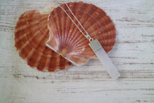 Load image into Gallery viewer, Selenite Crystal Silver Necklace