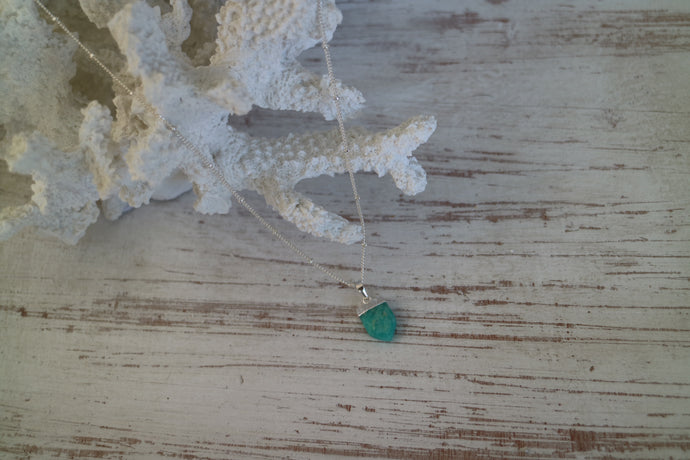 Amazonite Gemstone Silver Necklace