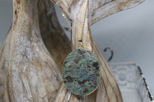 Load image into Gallery viewer, Sea Sediment Ocean Jasper Gold Necklace