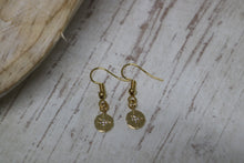 Load image into Gallery viewer, Gold cubic zirconia earrings
