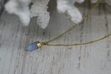 Load image into Gallery viewer, Blue Lace Agate Gold Necklace