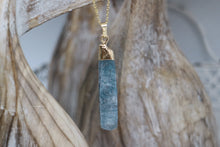 Load image into Gallery viewer, Kyanite Gemstone Gold Necklace