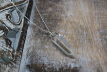 Load image into Gallery viewer, Clear Quartz Pendant Silver Necklace