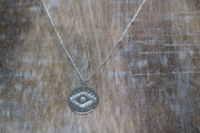 Load image into Gallery viewer, Silver evil eye of protection Necklace