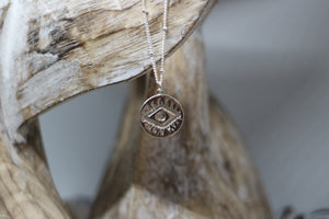 Silver evil eye of protection Necklace