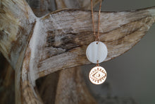 Load image into Gallery viewer, Mother of Pearl Shell Rose Gold Pendant Necklace
