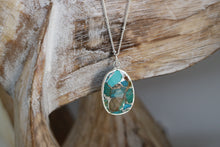Load image into Gallery viewer, Turquoise Silver Necklace