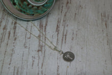 Load image into Gallery viewer, Silver rhodium palm tree coin necklace