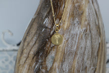 Load image into Gallery viewer, Gold palm tree coin necklace