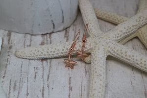 Rose Gold Starfish Earrings