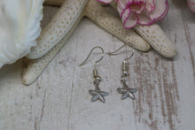 Load image into Gallery viewer, Silver Rhodium Starfish Earrings