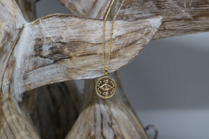 Gold Evil Eye of Protection Necklace