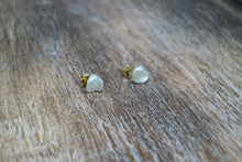 Load image into Gallery viewer, Fresh Water Pearl Gold Earring Studs
