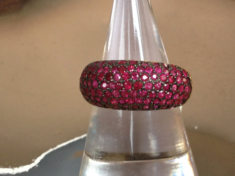 Pave Rubies set in 18K YG