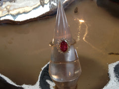 Ruby 1.20ct, 18 Diamonds 0.18ct, 18k WG