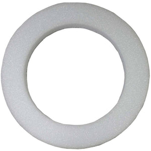 27-24140  Styrofoam Beveled Wreath, White 20""