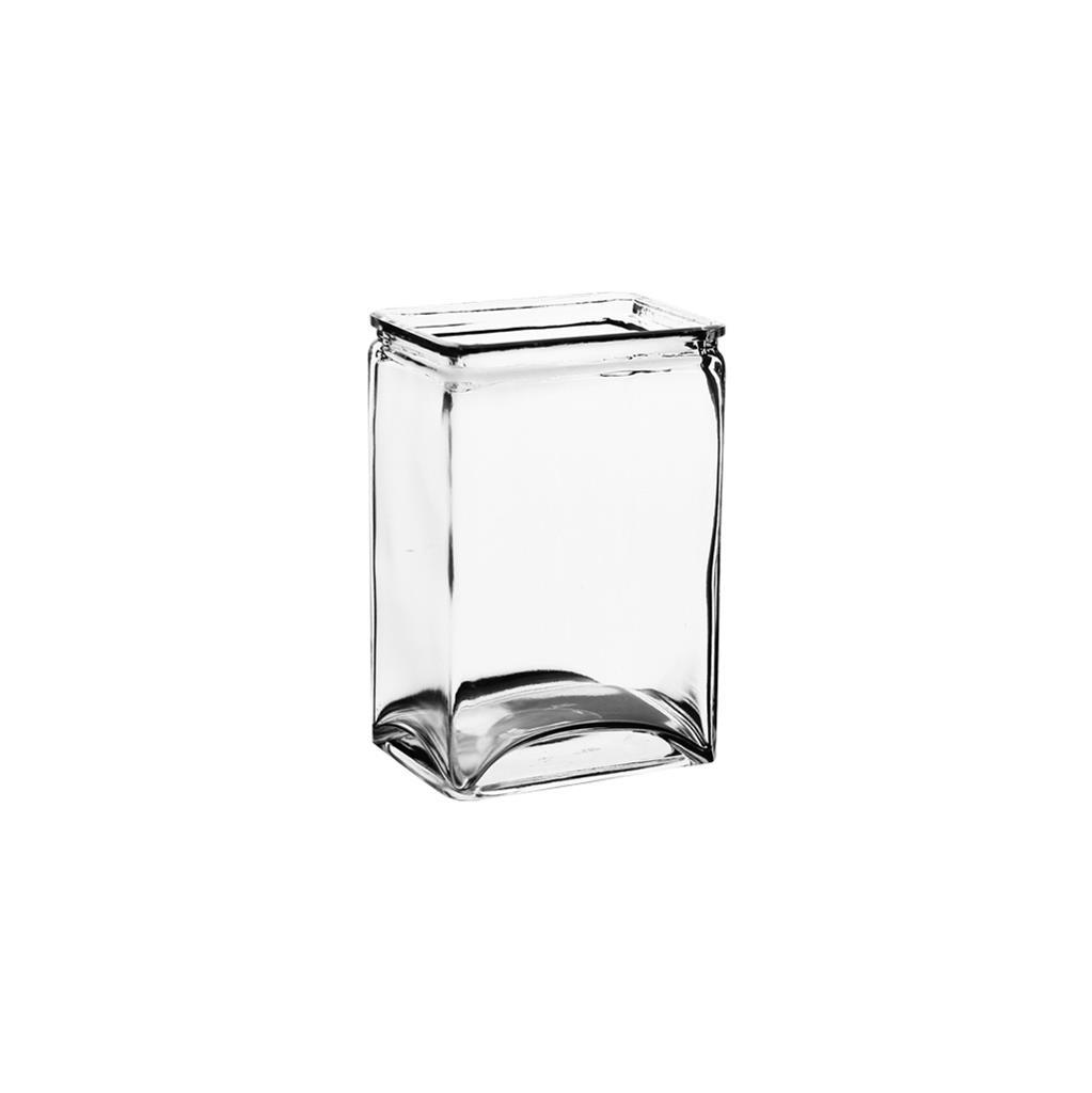 3077-12-09 4X3X6 Rectangle Vase Crystal - Inner Opening: 3.5
