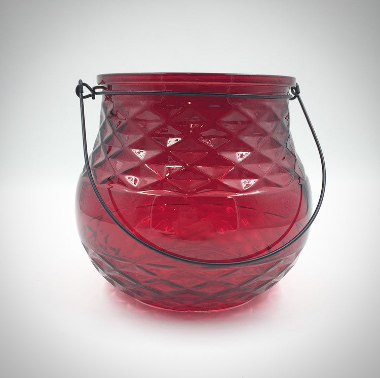 G3046  Red Pot W/Handle 4
