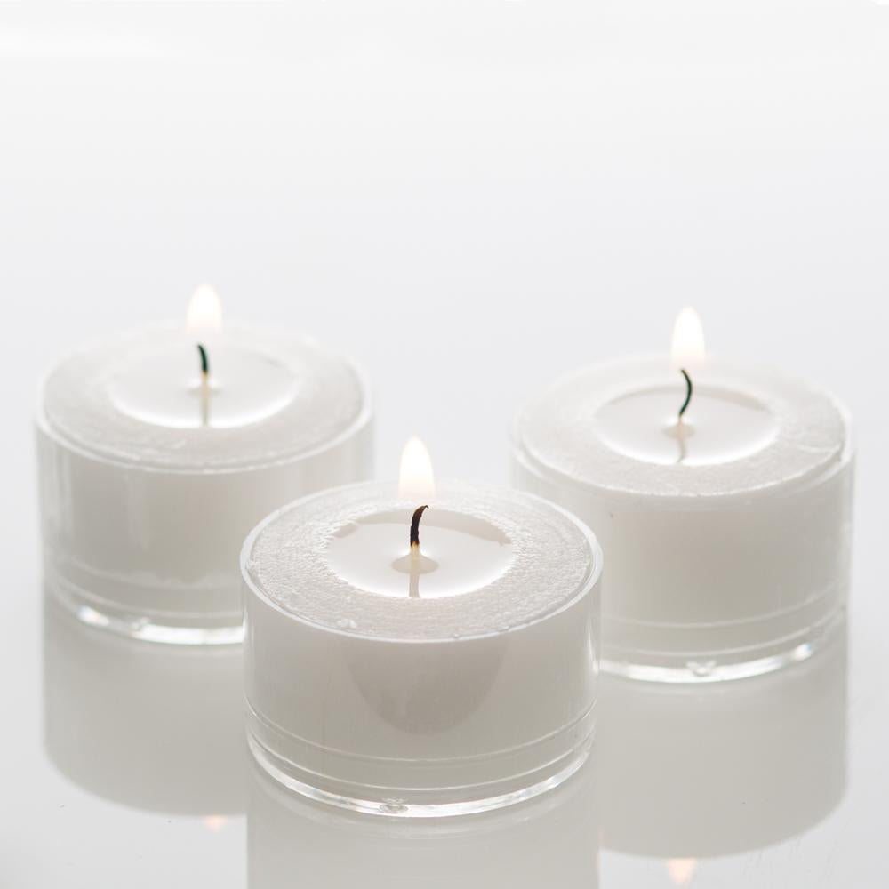 7 Hour Plastic Tea Light Candles, White  100/Box