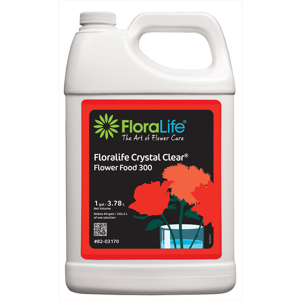 82-03170 Floralife CRYSTAL CLEAR® Flower Food 300 1 Gal.