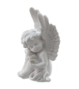 "920510  4 1/2""Tall White Angel Statues  Assortment of 2 (4 to a Set)"