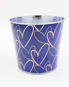 "922896GYP  Forever Linked Metal Pot W/Liner 4""T x 4.5W"