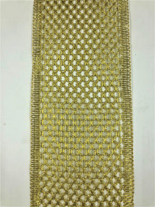 Alloy Ribbon - Gold  Multiple Widths