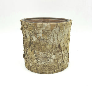 "GB1508  4.75"" Birch Wrap Glass Cylinder"