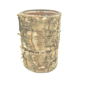"GB36  3.25""Wide X 6""T Birch Wrap Glass Cylinder"