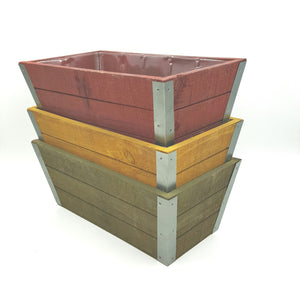 WD2647  Fall Wood Planters Assortment of 3