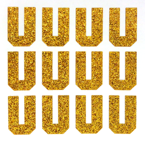 "1.5"" Old Gold Sticker Glitter Letters"