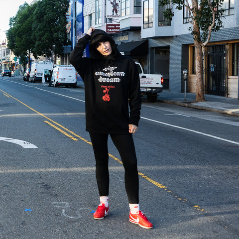 State Of Flux - Shop - Mens - clothing store - workshop - mentality - capsule - collection - streetwear - American Dream Hoodie - san francisco - 3
