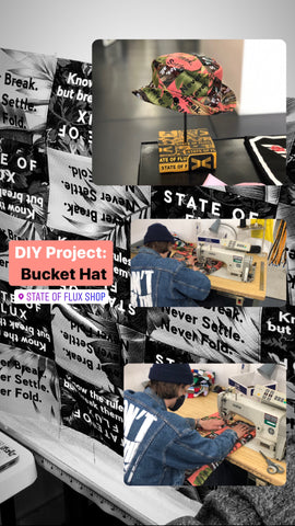 State Of Flux - Shop - Streetwear - Cut and sew - DIY - Project - Bucket Hat - San Francisco - Workshop - 1