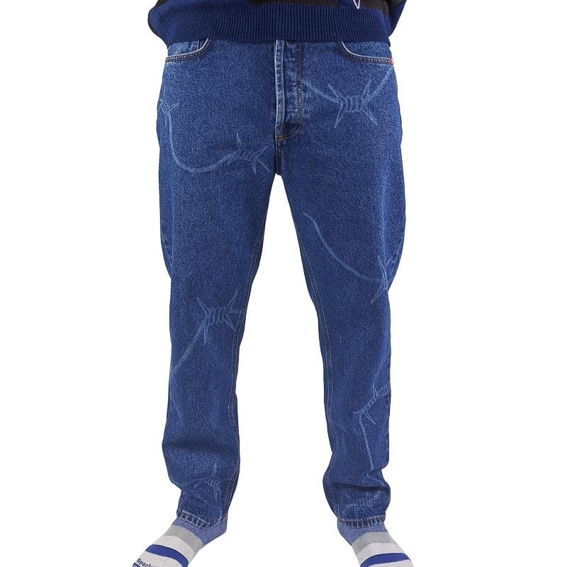 Wire Pants in blue denim