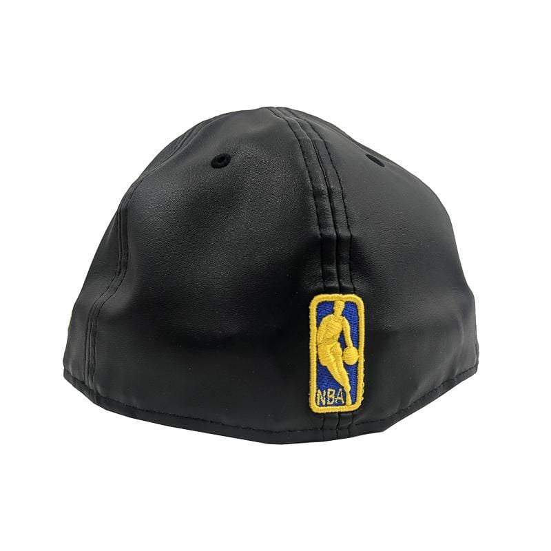 Golden State Warriors Faux Leather 59Fifty Fitted Hat in black