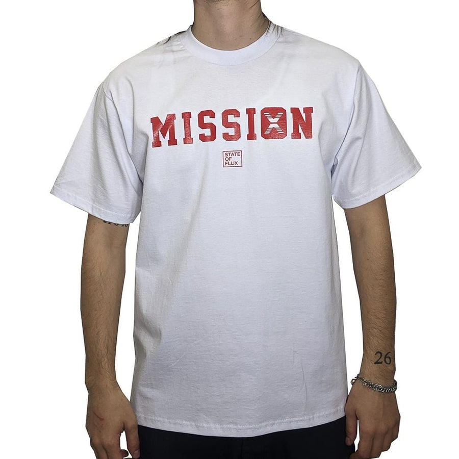 Still On A Mission Tee in white and red