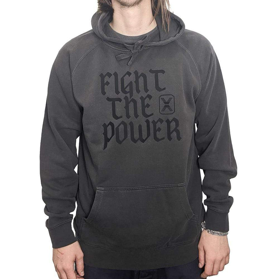 Fight The Power Hoodie in charcoal
