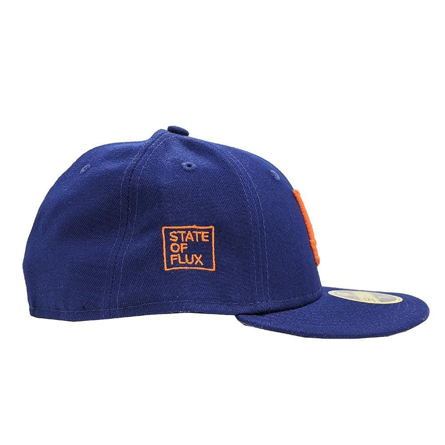 State Of Flux X New Era Los Angeles Dodgers Low Profile 59FIFTY Fitted Hat in royal blue and orange