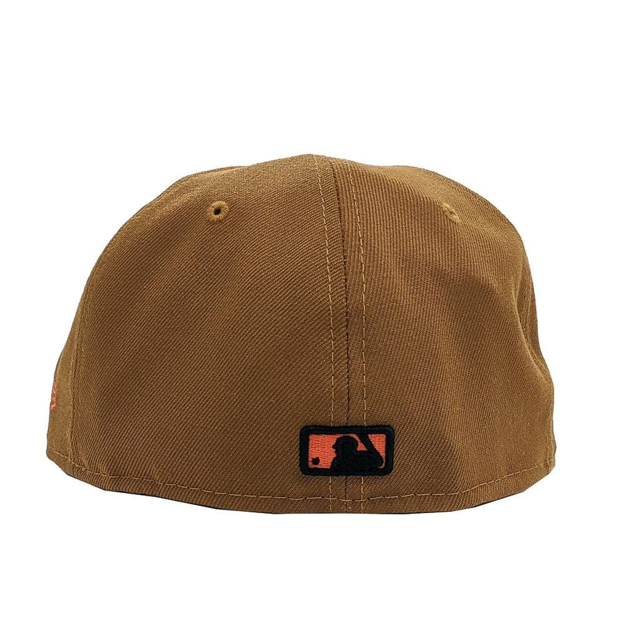 State Of Flux X New Era San Francisco Giants 59FIFTY Fitted Hat in peanut brown and orange