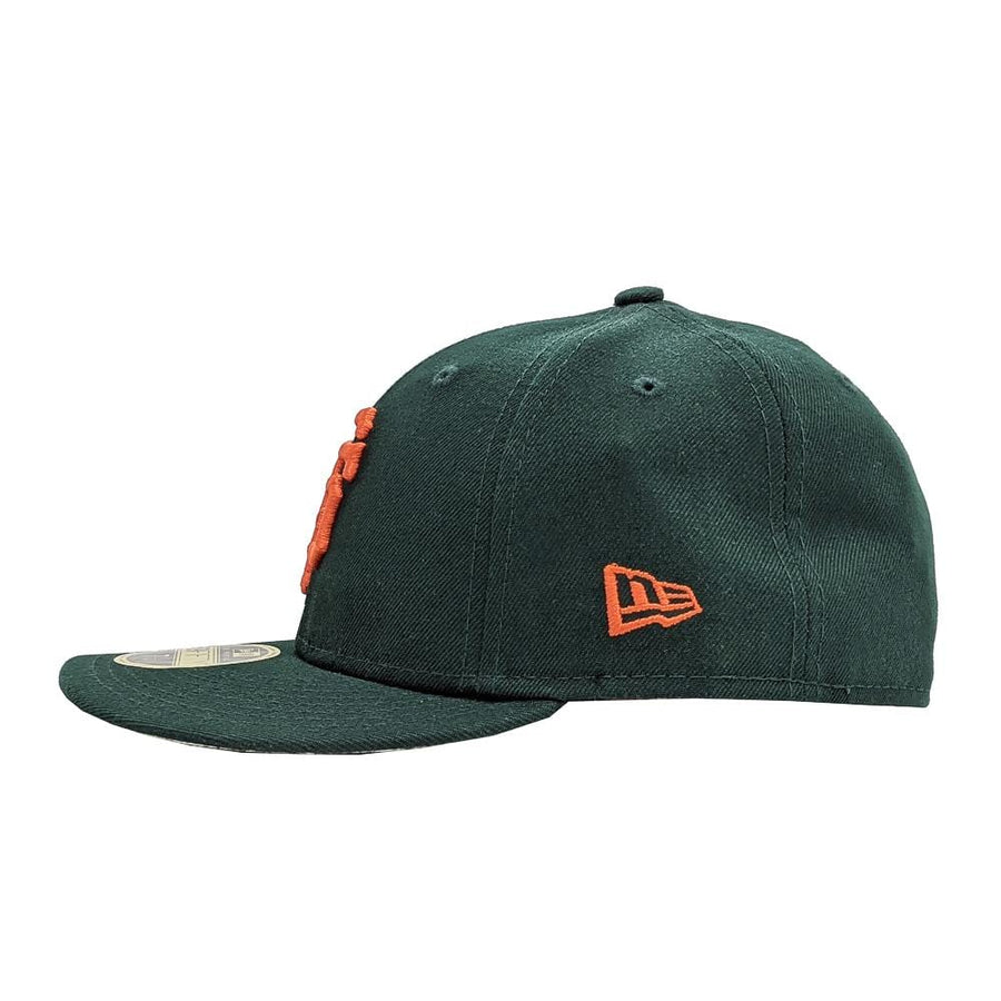 State Of Flux X New Era San Francisco Giants Low Profile 59FIFTY Fitted Hat in forest green and orange