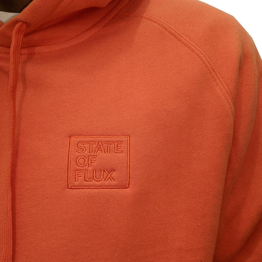 State Of Flux Box Logo Hoodie in orange