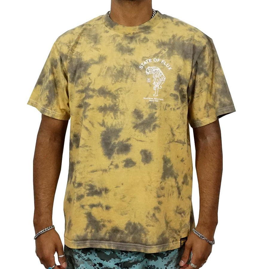 Prowler Tee in pollen tie-dye and white