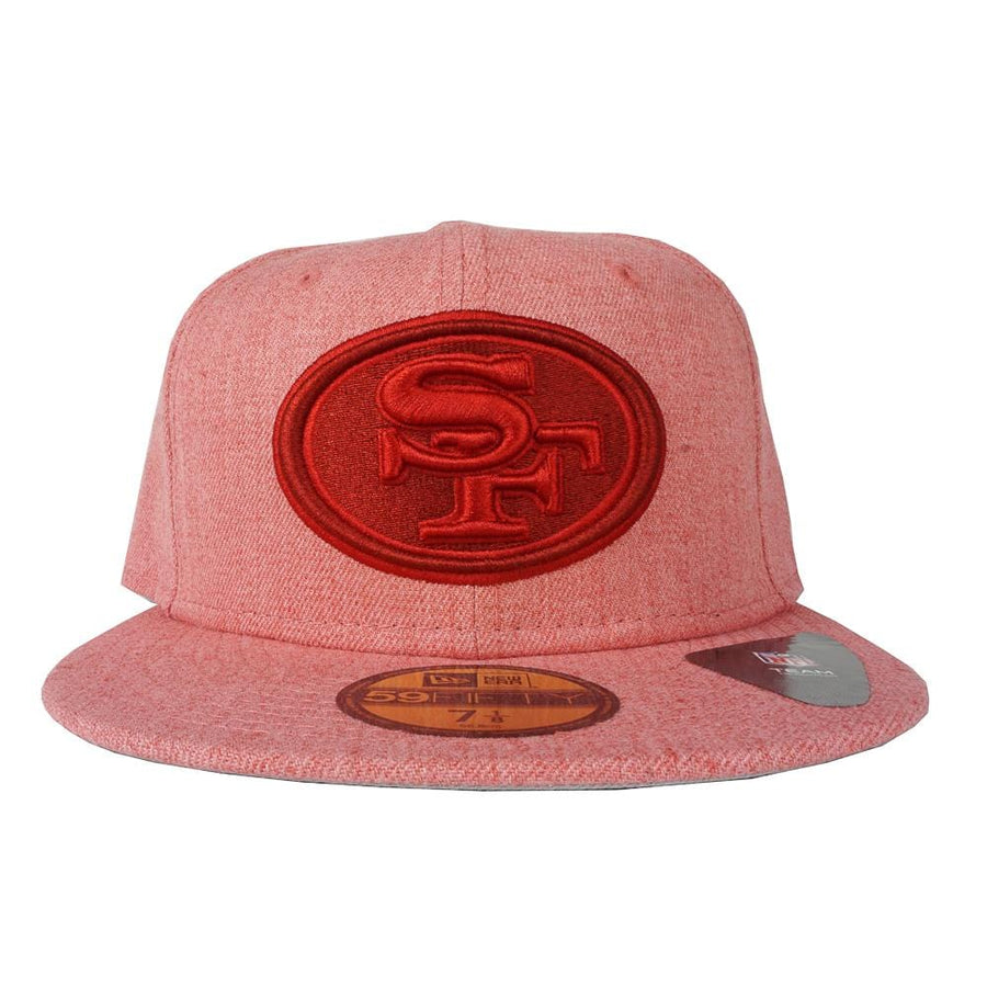 San Francisco 49ers Heather Classic 59Fifty Fitted Hat in red heather