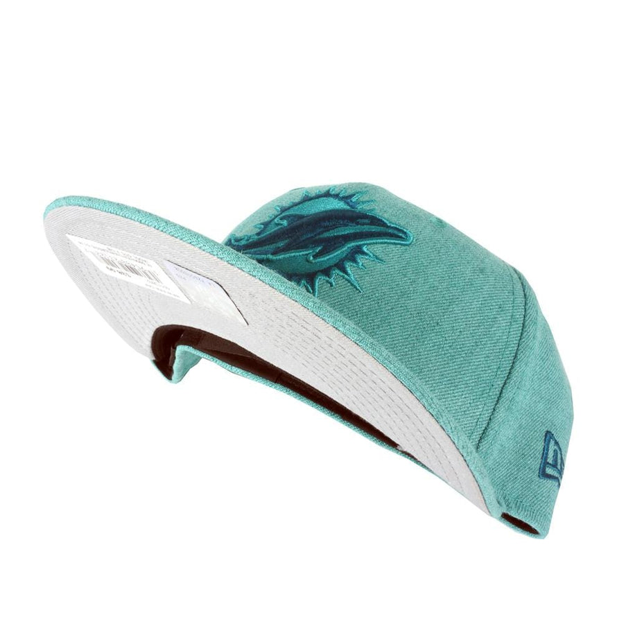 Miami Dolphins Heather Classic 59FIFTY Fitted Hat in teal heather