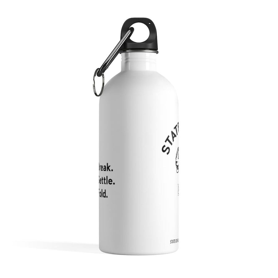 Prowler Stainless Steel Water Bottle in white