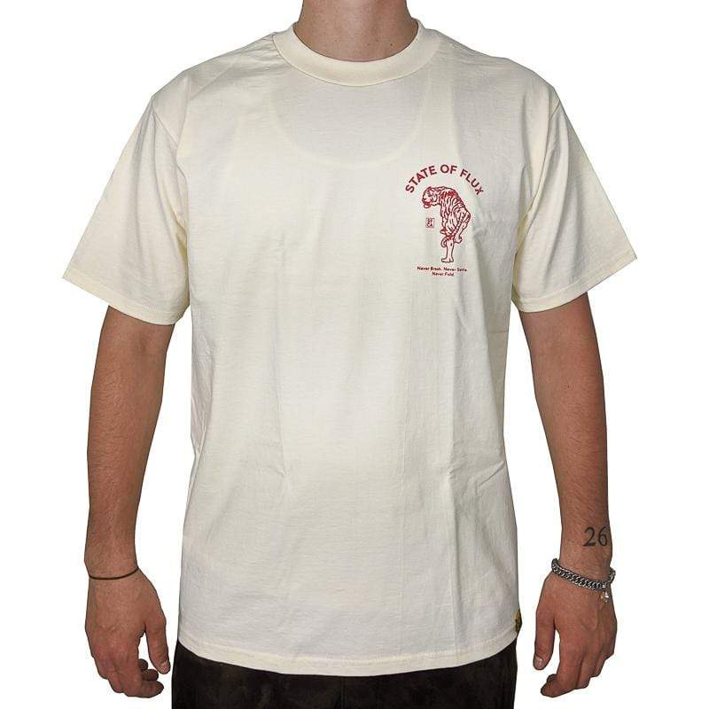Prowler Tee in cream and red