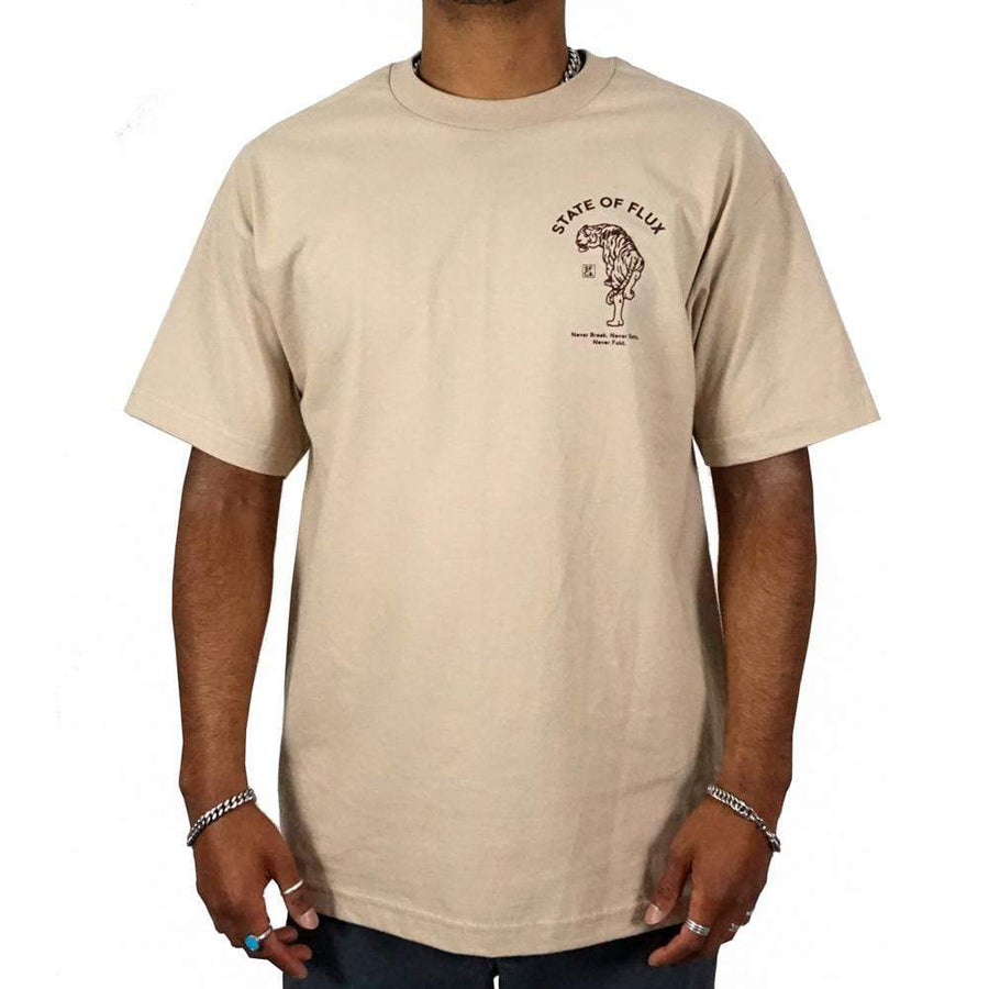 Prowler Tee in khaki and brown