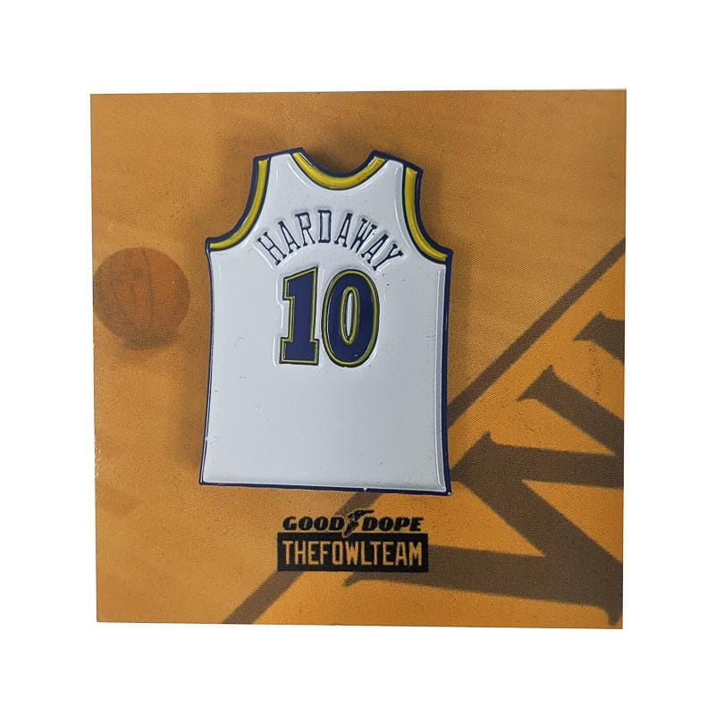 Hardaway Run It Pin in white and blue