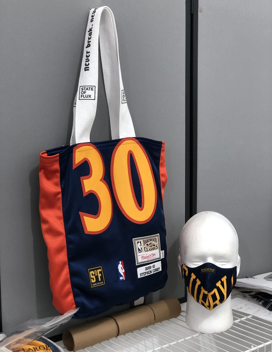 Raffle Ticket for State Of Flux Stephen Curry Warriors Jersey Face Mask and Tote Bag
